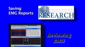 Reviewing EMG – Saving EMG Reports