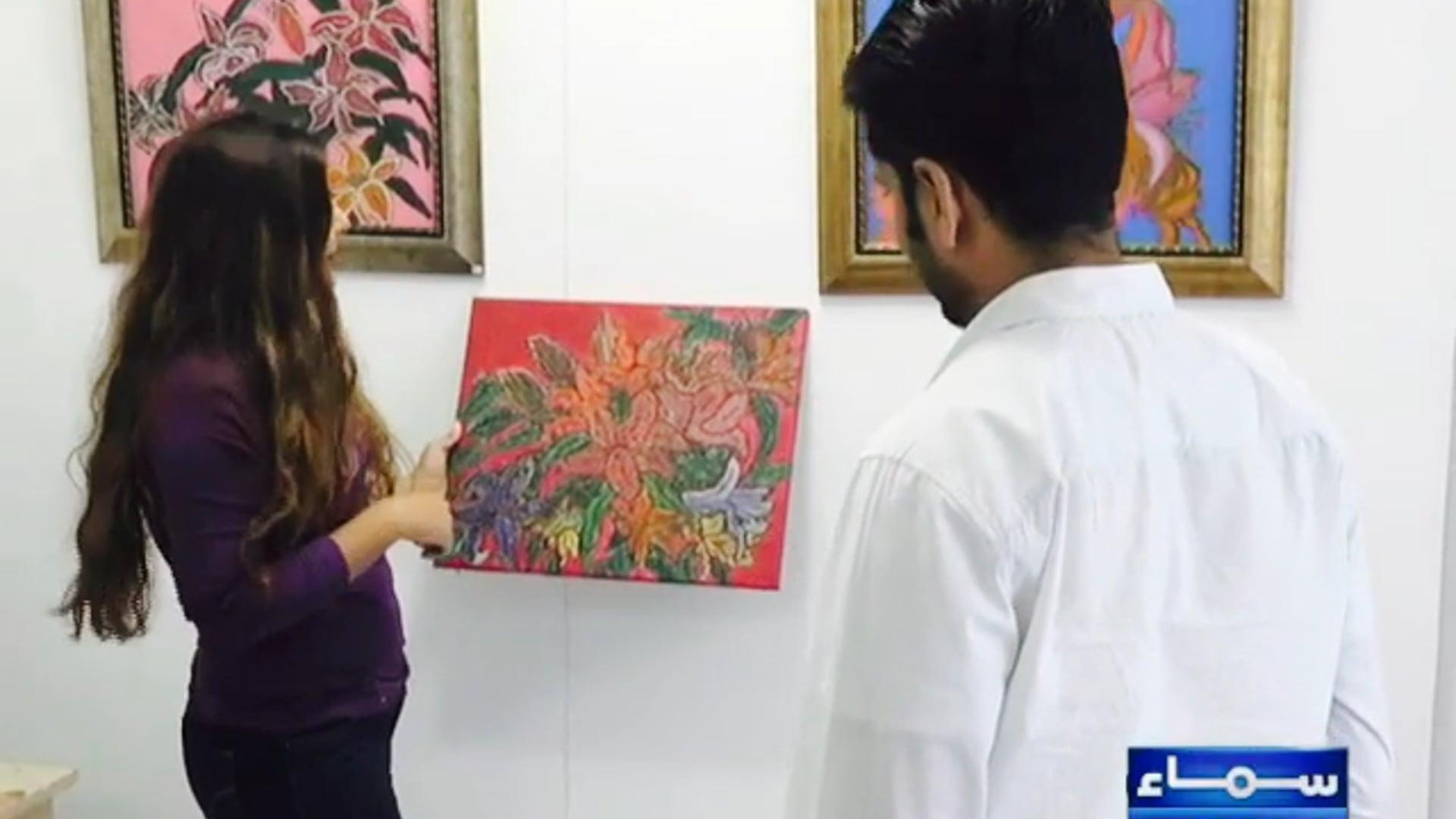 Artist Soraya Sikander on her work (SAMAA TV)