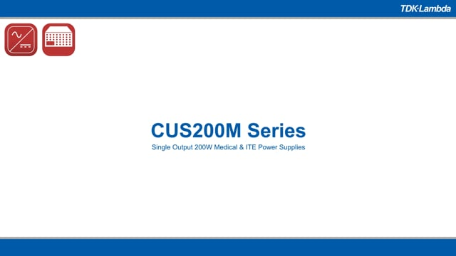 CUS200M Single Output 200W Medical & ITE Power Supplies