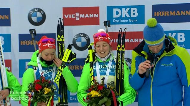 Das Siegerinterview der deutschen Damen Staffel (2017)