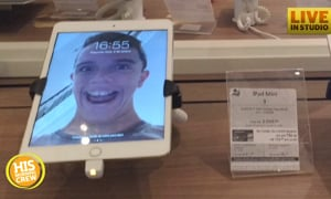Boy Plays Funny Prank at Phone Store