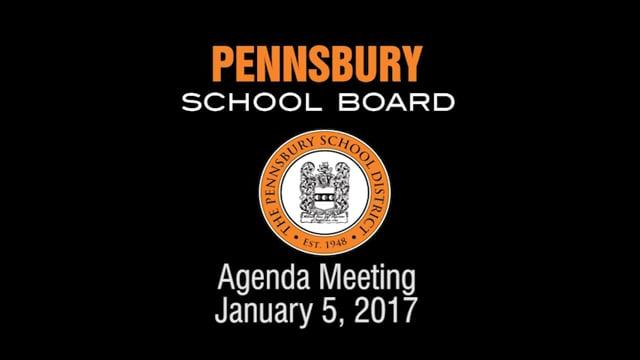 Pennsbury School Board Meeting for January 5, 2017