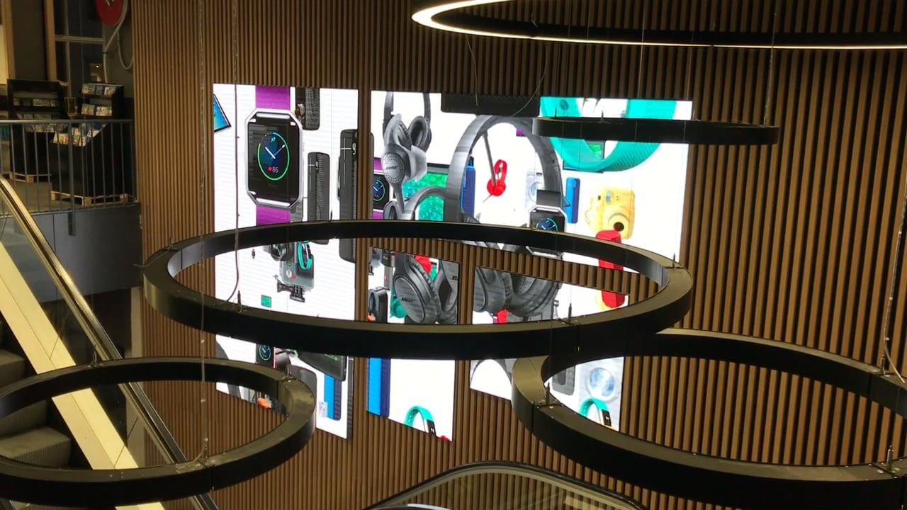 Dynamo LED Displays - Custom LED Screens - Elgiganten LED Video Wall Copenhagen