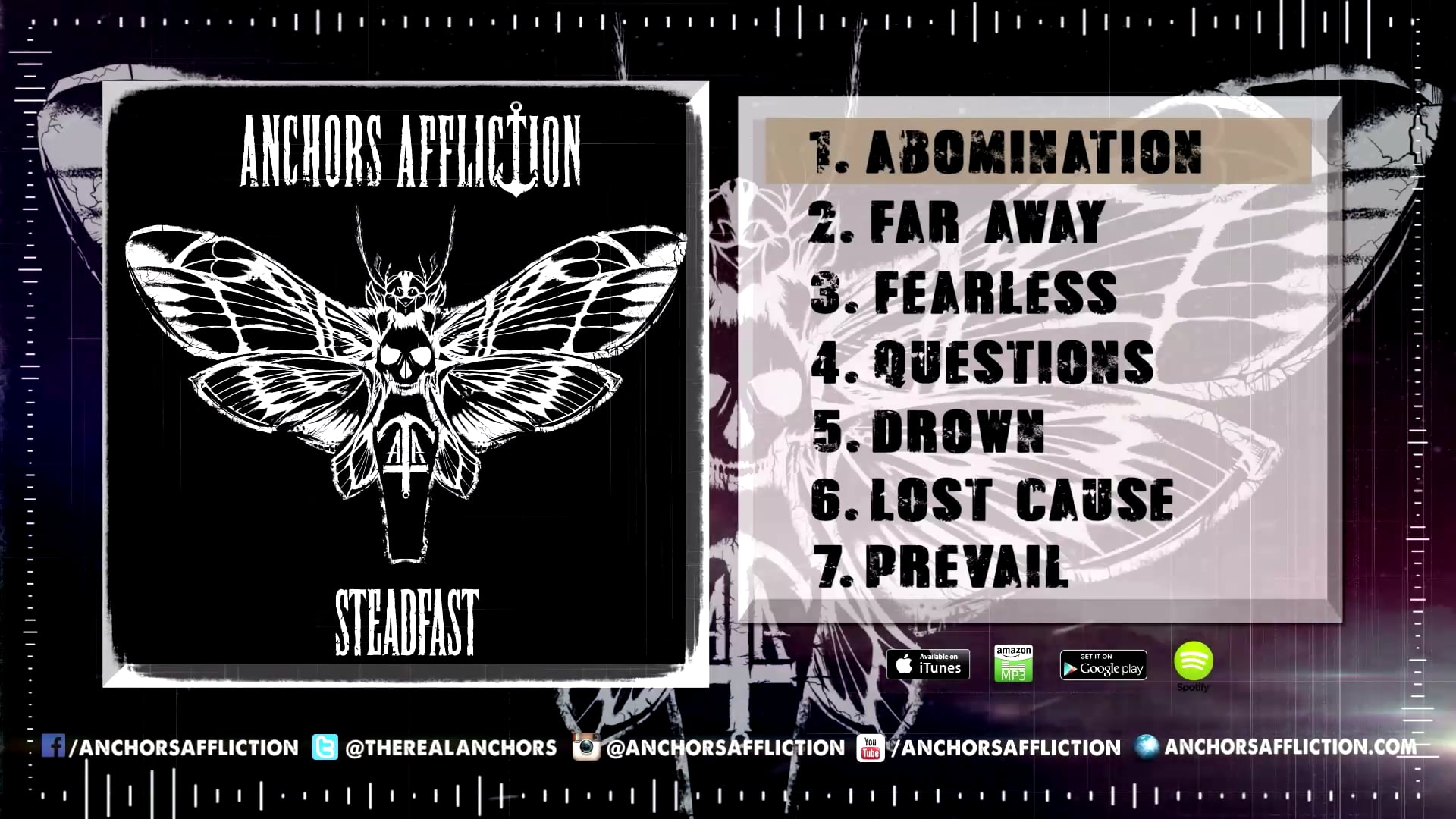 """Anchors Affliction -""""Abomination""""  (Steadfast EP Stream)"""