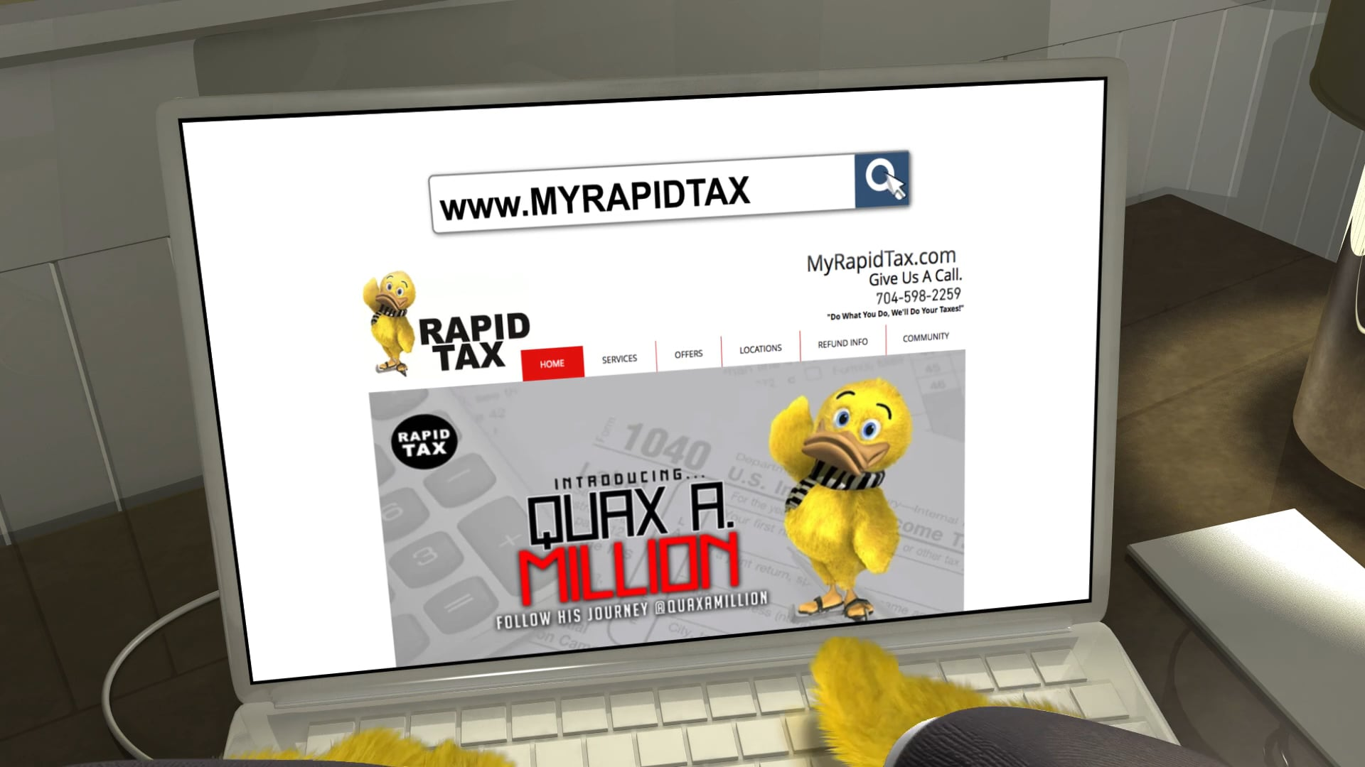 """""""Introducing Quax A. Million"""" - Rapid Tax 2017 Commercial HD"""