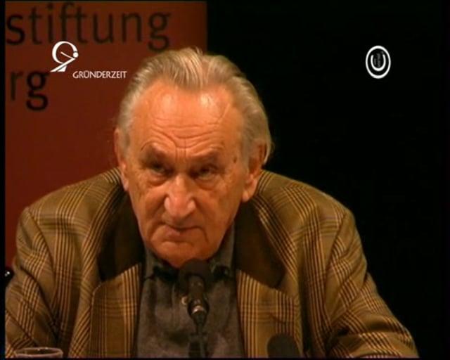 """Prof. Egon Bahr spricht über den """"Deutschen Sonderweg"""""""