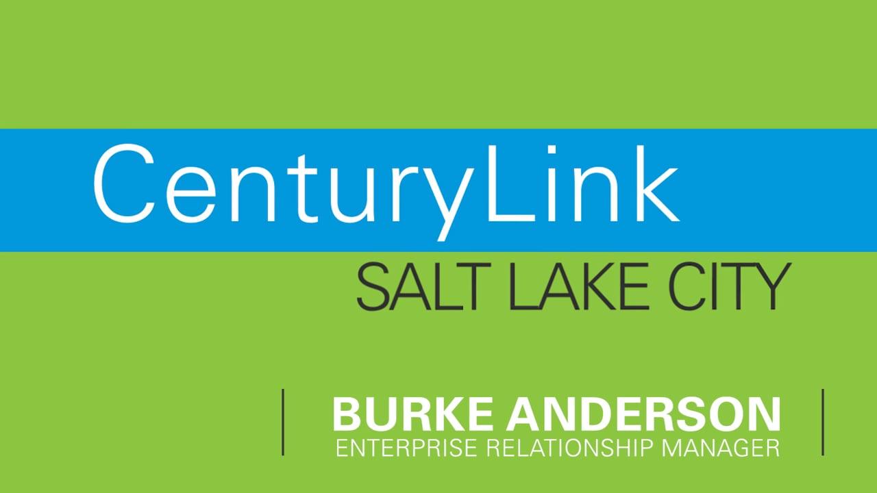Burke Anderson, CenturyLink - Video Business Cards