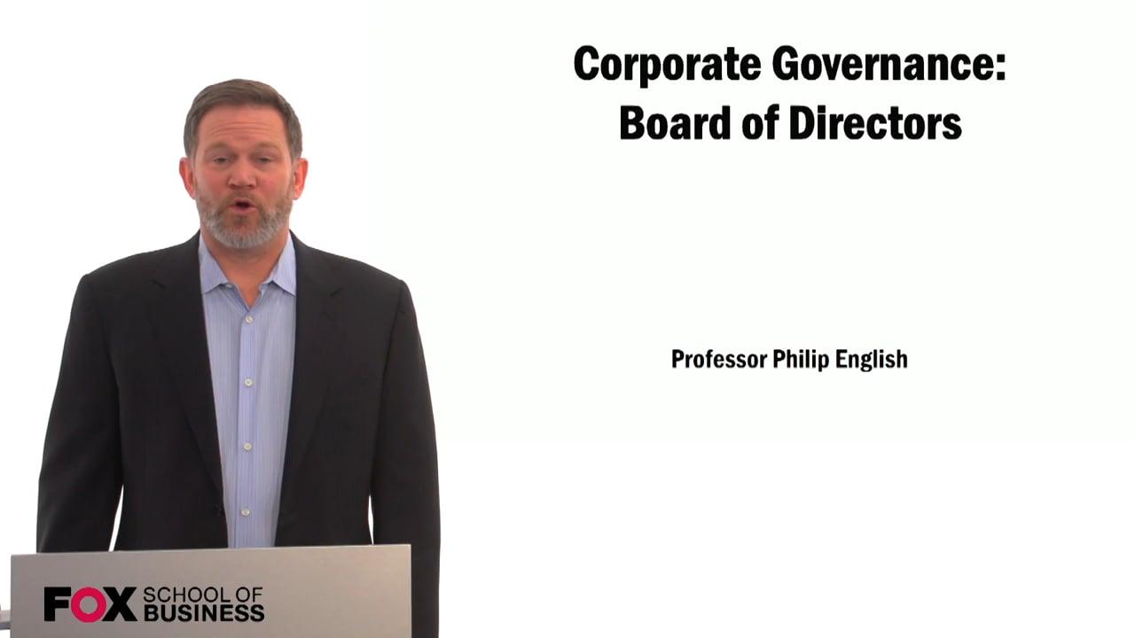 59382Corporate Governance: Board of Directors