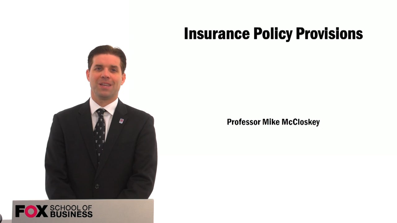 59400Insurance Policy Provisions