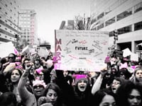 Frame from Women's March on Washington