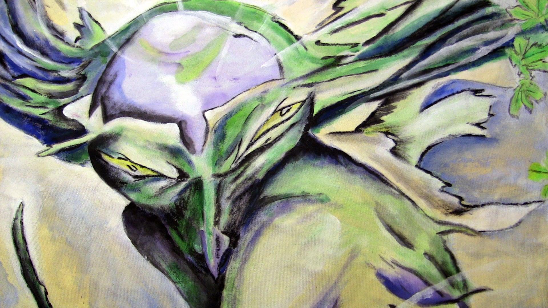 Plane Tree Leaf. Painting