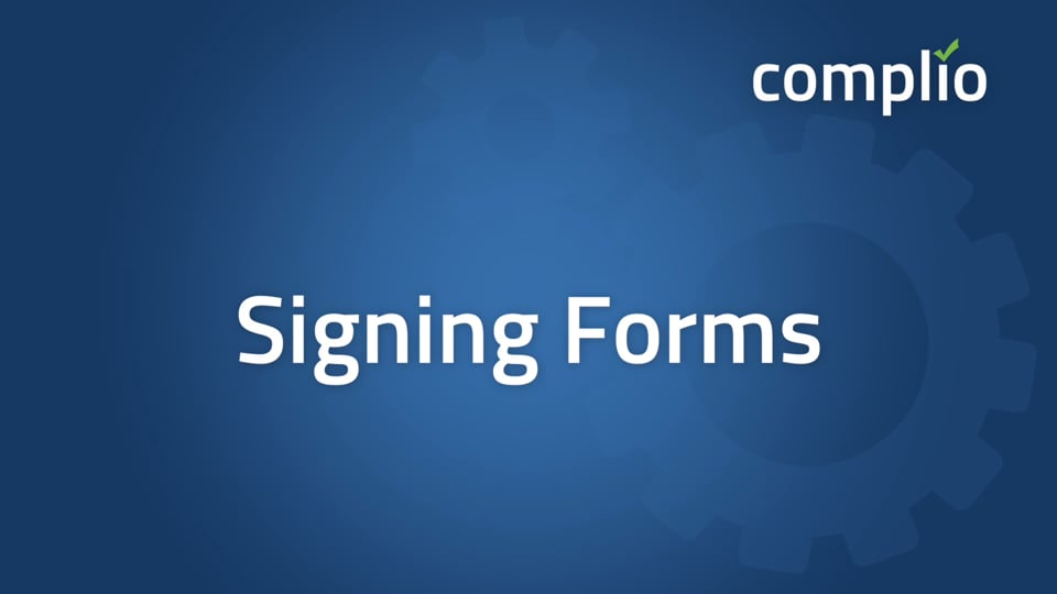 Signing Forms