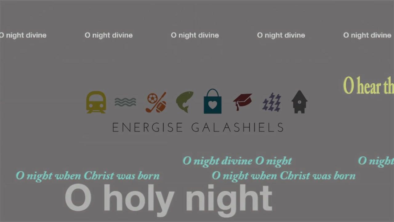 Galashiels Christmas Carols projection December 2016