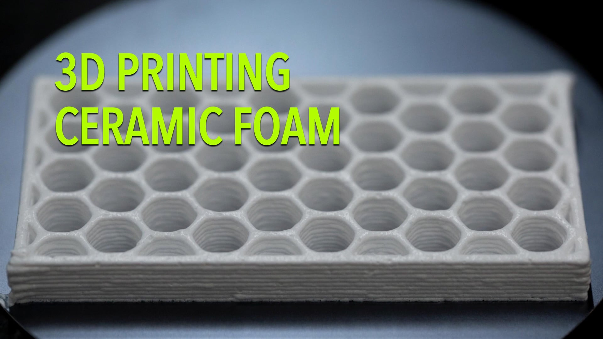 3D Printing Ceramic Foam