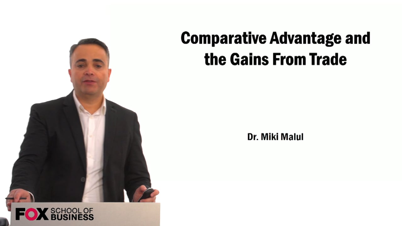 59393Comparative Advantage and the Gains From Trade