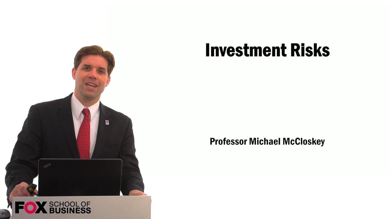 59455Investment Risks