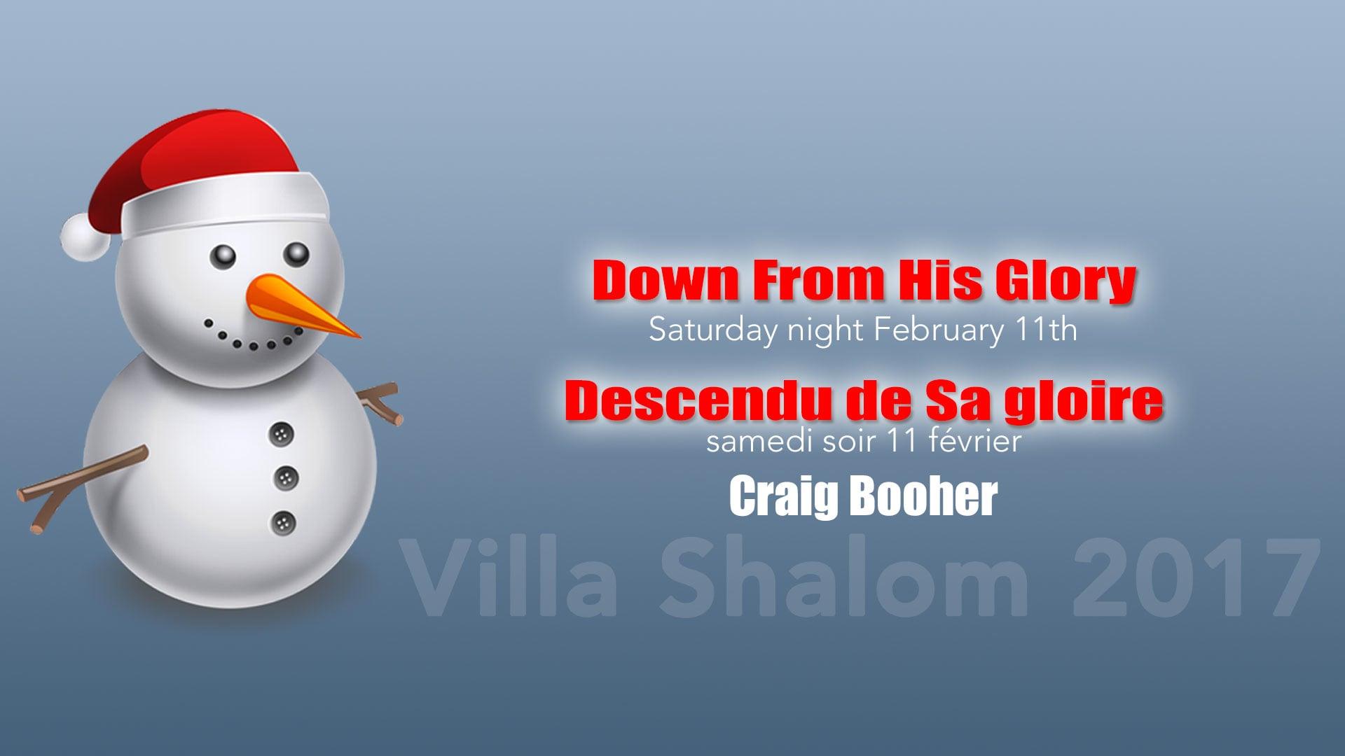 2017-02-11 pm - Descendu de Sa gloire   Down From His Glory