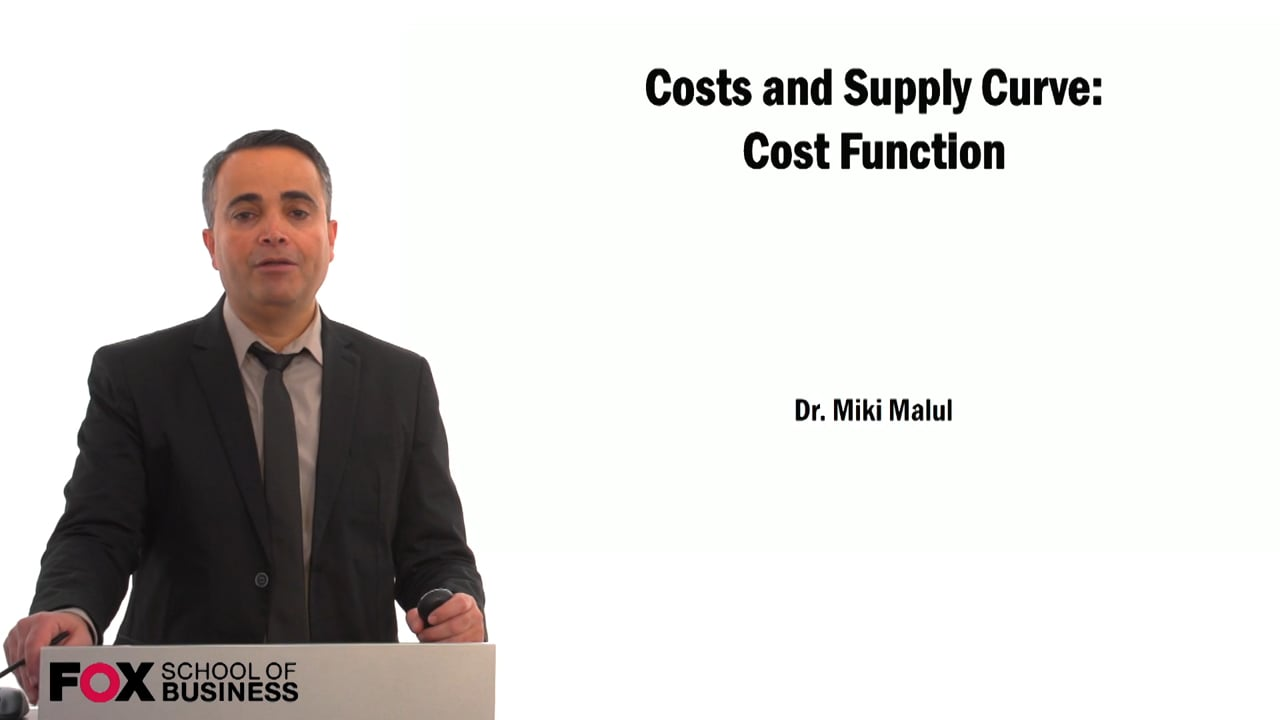 59450Costs and Supply Curve: Cost Function