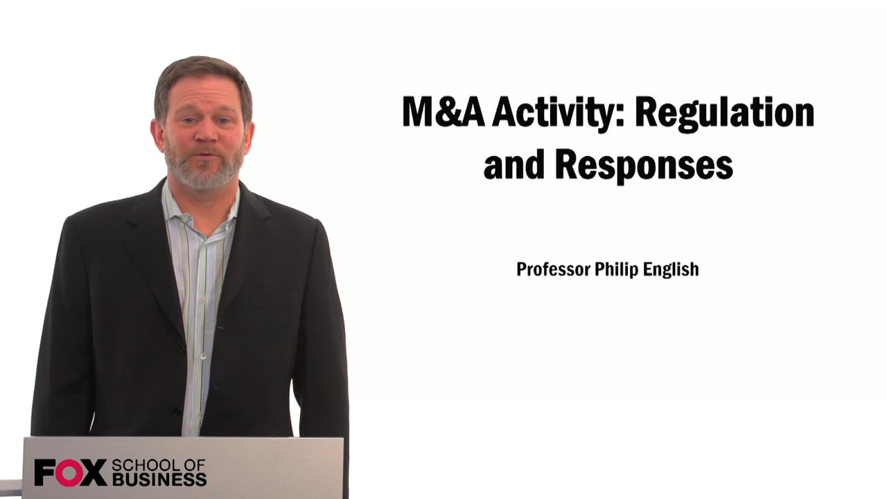 59516M&A Activity: Regulation and Responses