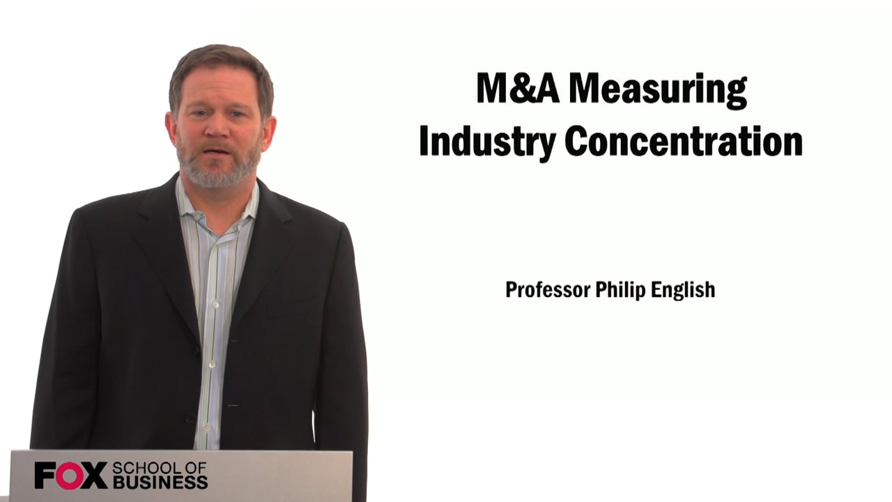 59521M&A Measuring Industry Concentraion
