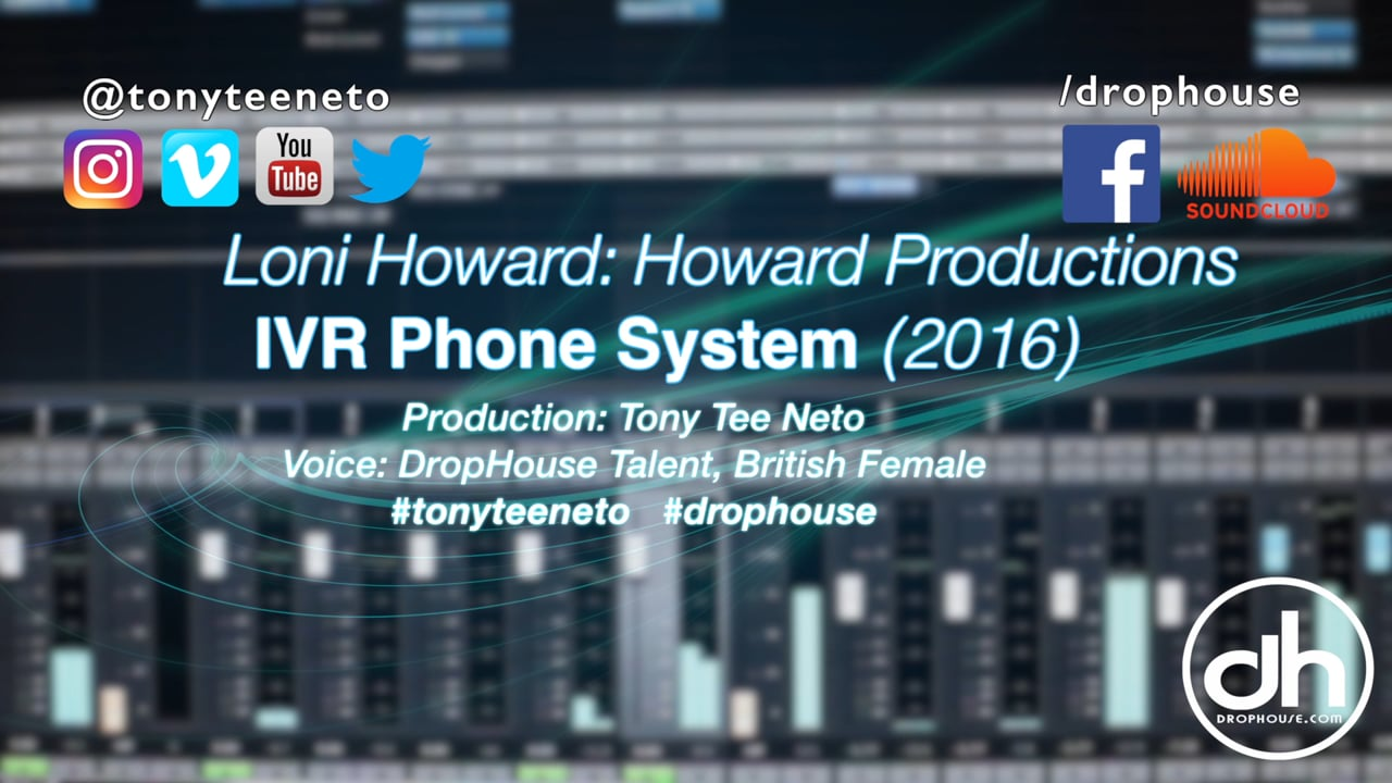 Drophouse- IVR Phone System Voiceover (2016)