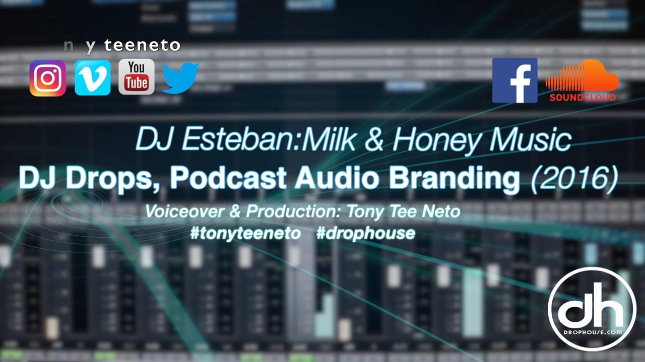 DropHouse- Imaging, Drops, Branding for DJ Esteban Milk & Honey (2016)