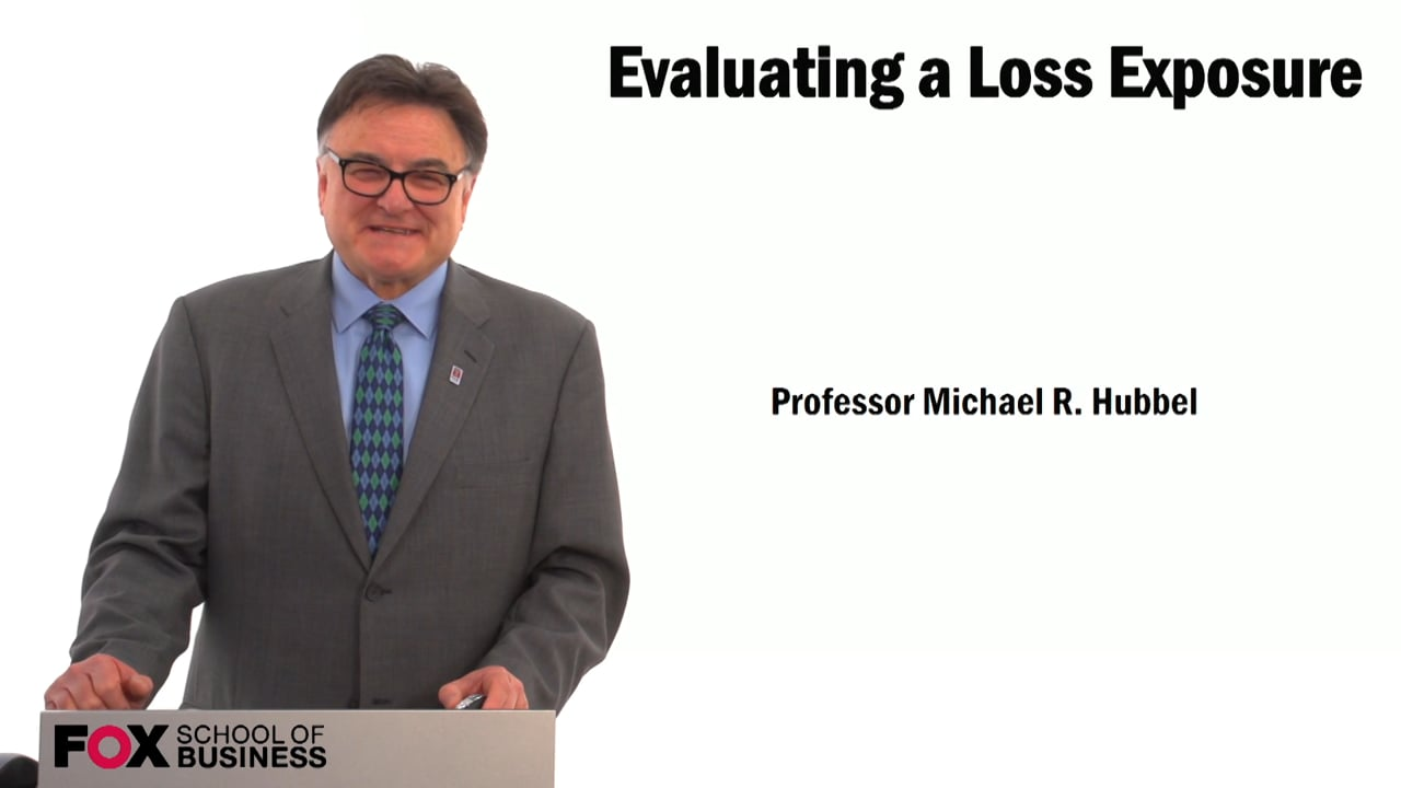 59467Evaluating a Loss Exposure
