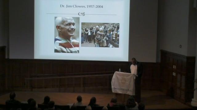 Last Lecture Series: Dr. Julian Hayter (2014)