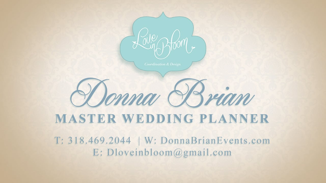 Behind the Scenes at a New Year's Eve Wedding on the Bayou by Donna Brian of Love in Bloom