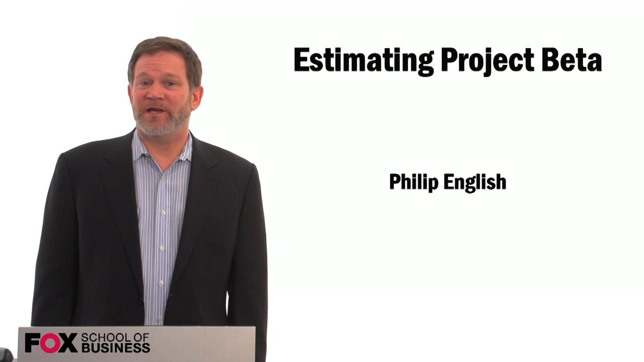 59492Estimating Project Beta
