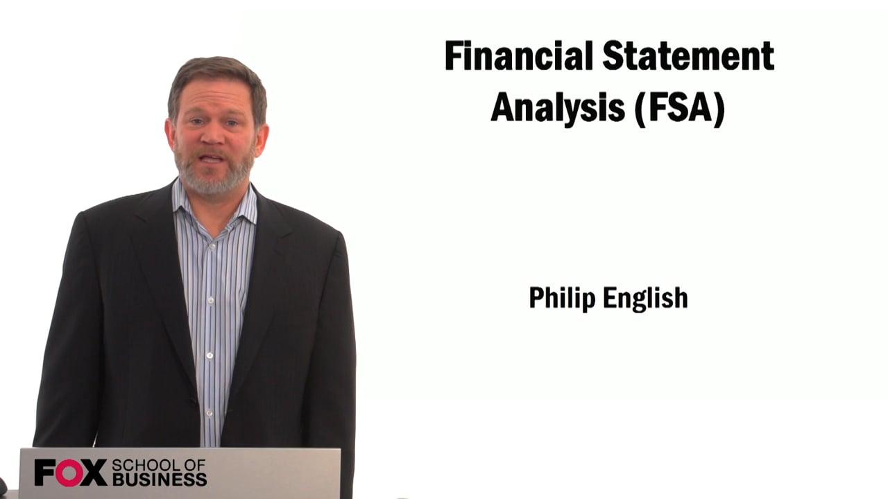 59494Financial Statement Analysis (FSA)