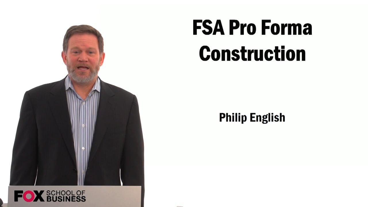 59495FSA Pro Forma Construction