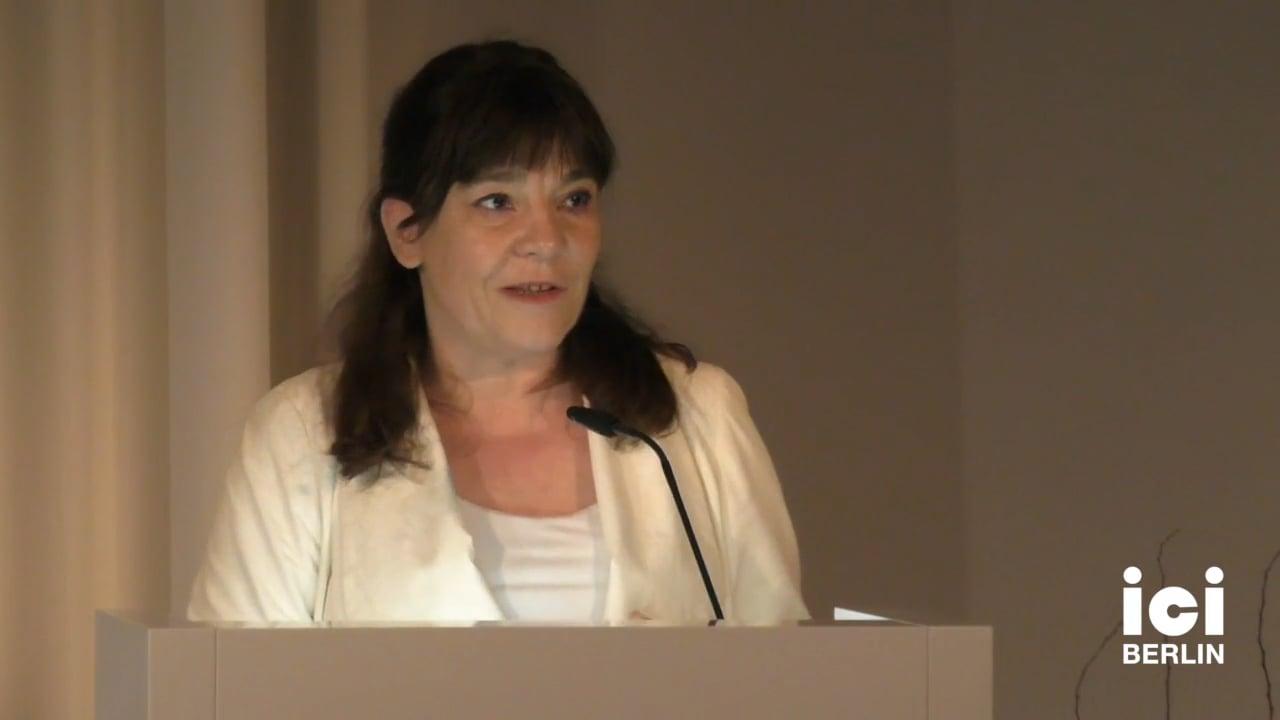 Talk by Silke-Maria Weineck