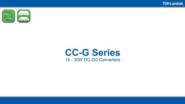 CCG30 30W Wide Input DC-DC Converters Video