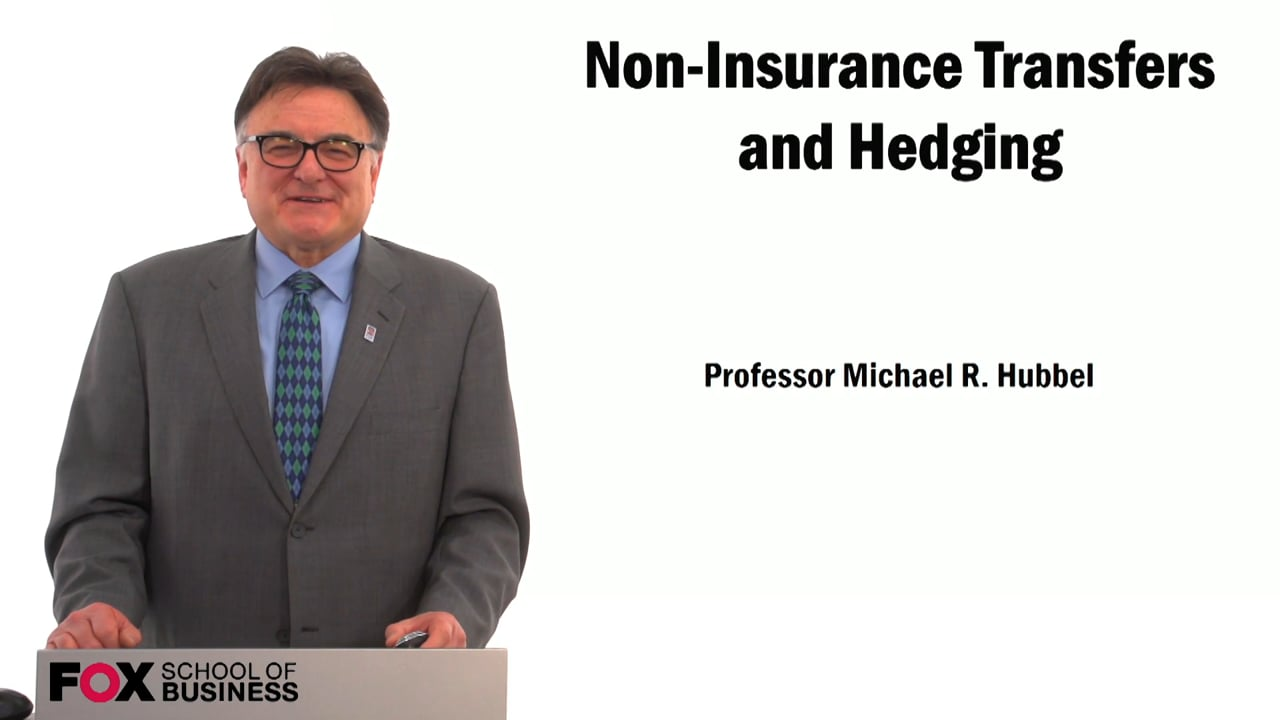 59483Non-Insurance Transfers and Hedging