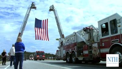 Procession for Lt. Paramedic Michael Scott Norton