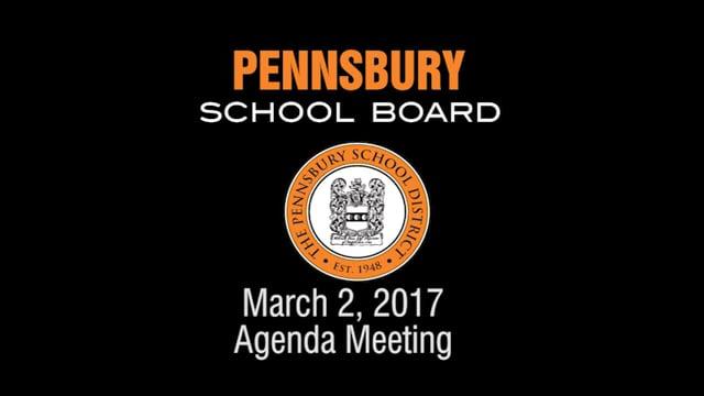 Pennsbury School Board Meeting for March 2, 2017