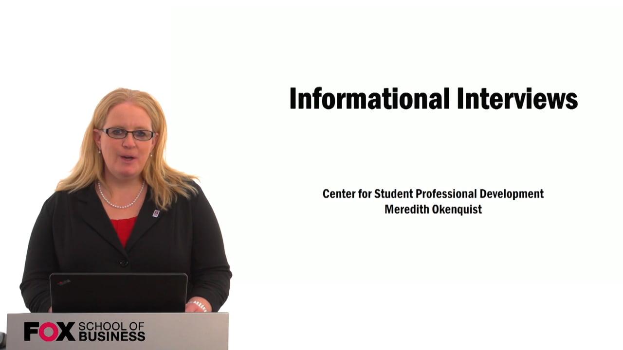 59536Informational Interviews (CSPD)