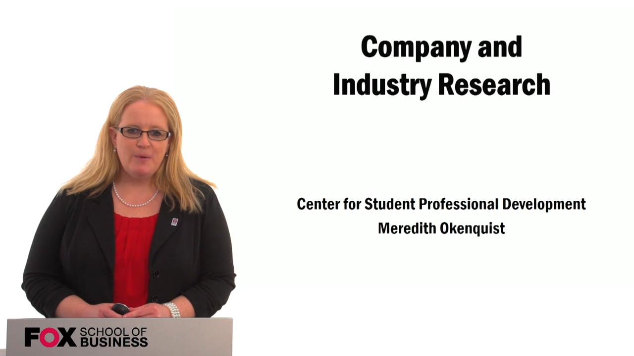 59535Company and Industry Research (CSPD)