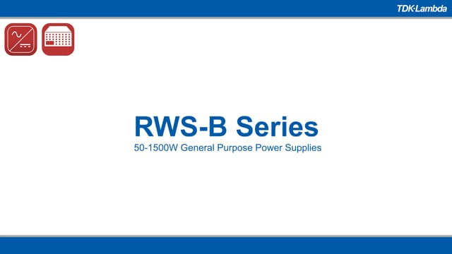 RWS-B 50-600W General Purpose Power Supplies Video
