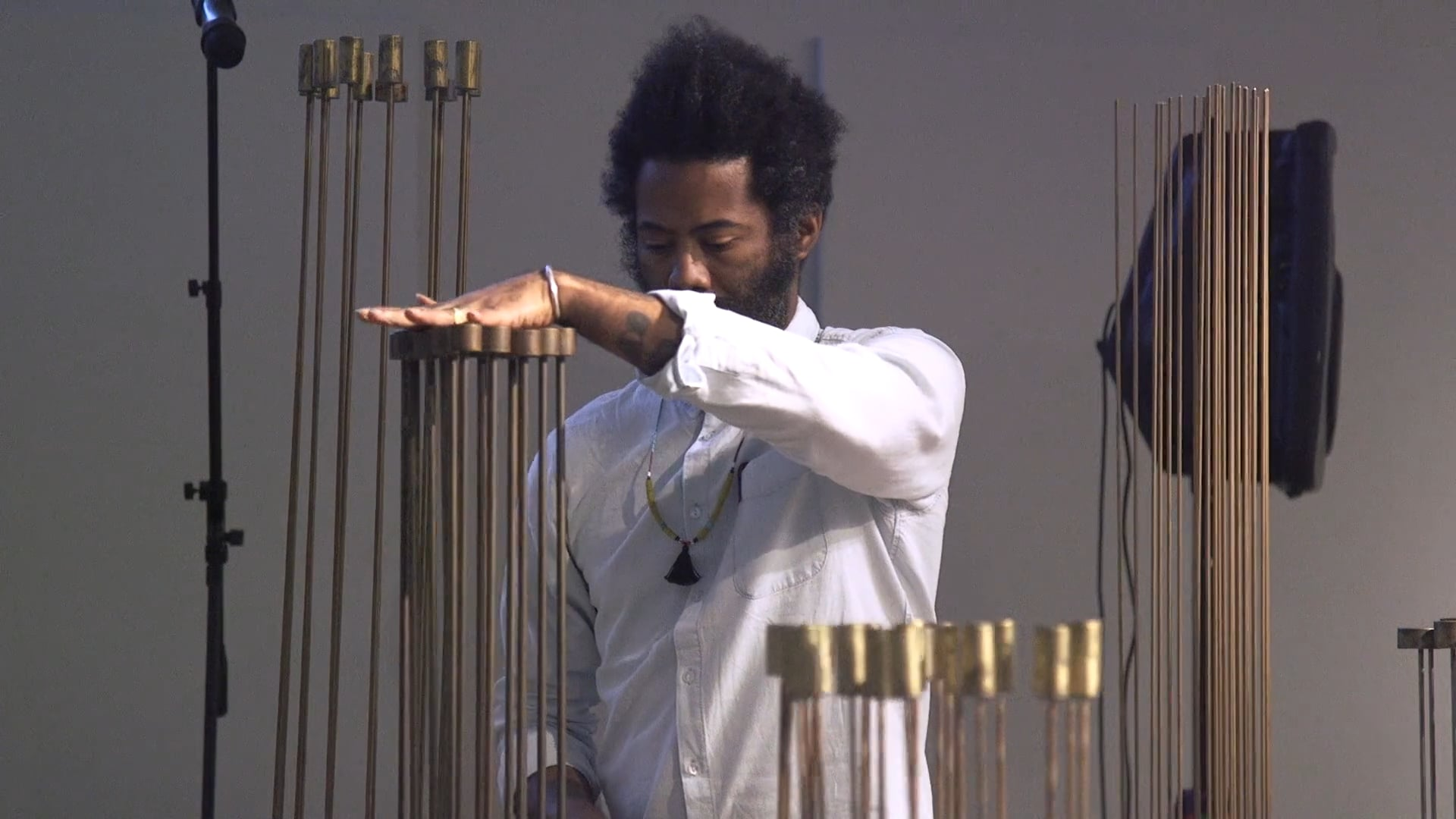 Bertoia Teaser: Robert Aiki Aubrey Lowe performs at MAD