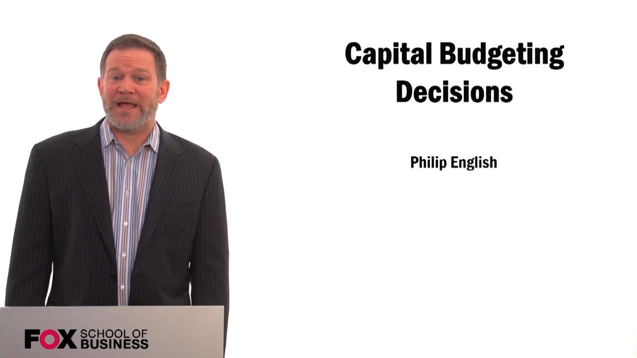 59578Capital Budgeting Decisions