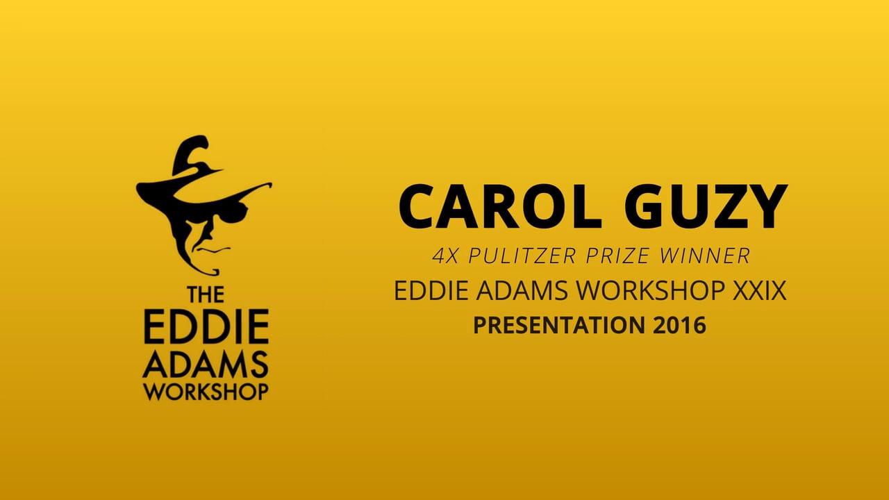 Carol Guzy – News Photographer - Eddie Adams Workshop 2016