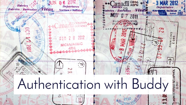 28. Authentication with Buddy