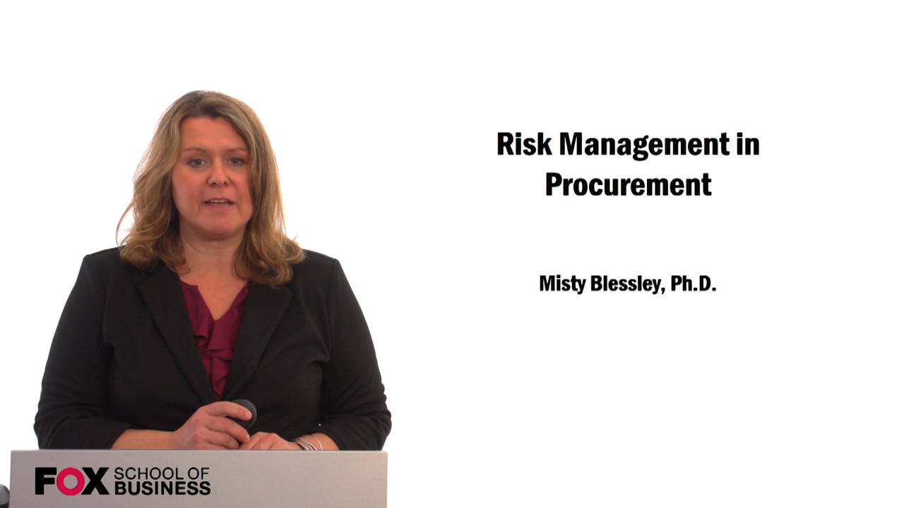 59682Risk Management in Procurement