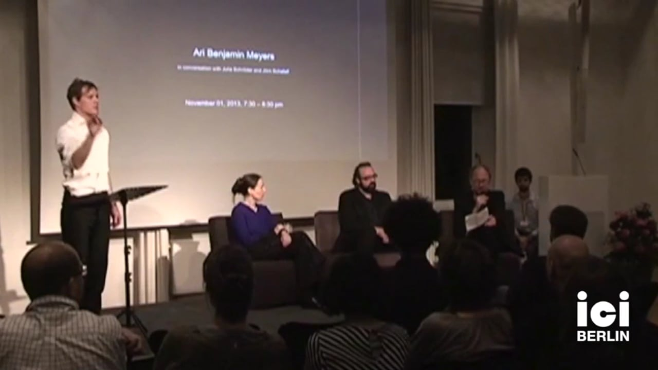 Artist Talk: Jörn Schafaff and Julia Schröder, Frank Willens performing, Part I