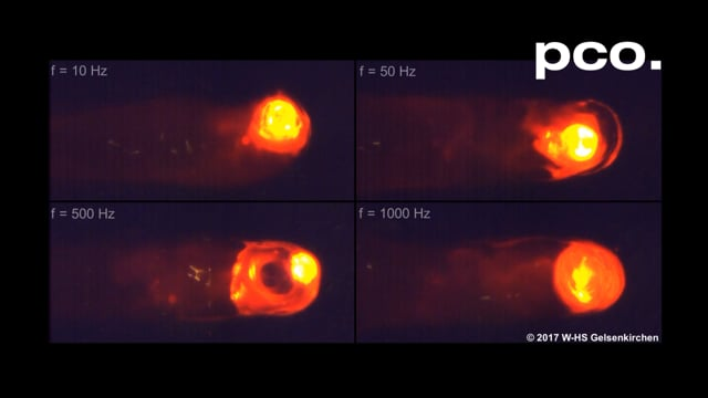 Electron Beam Welding filmed with a pco.dimax