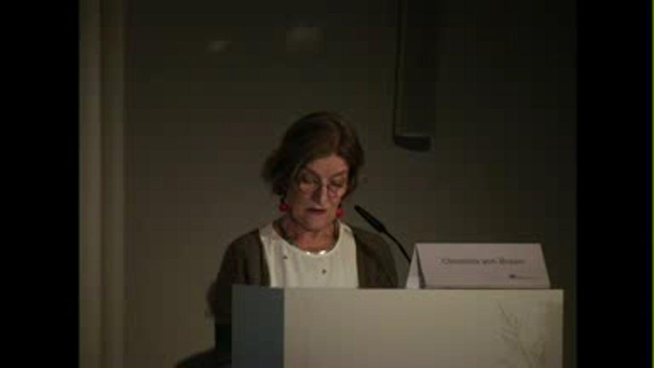 Lecture by Christina von Braun (Part II)