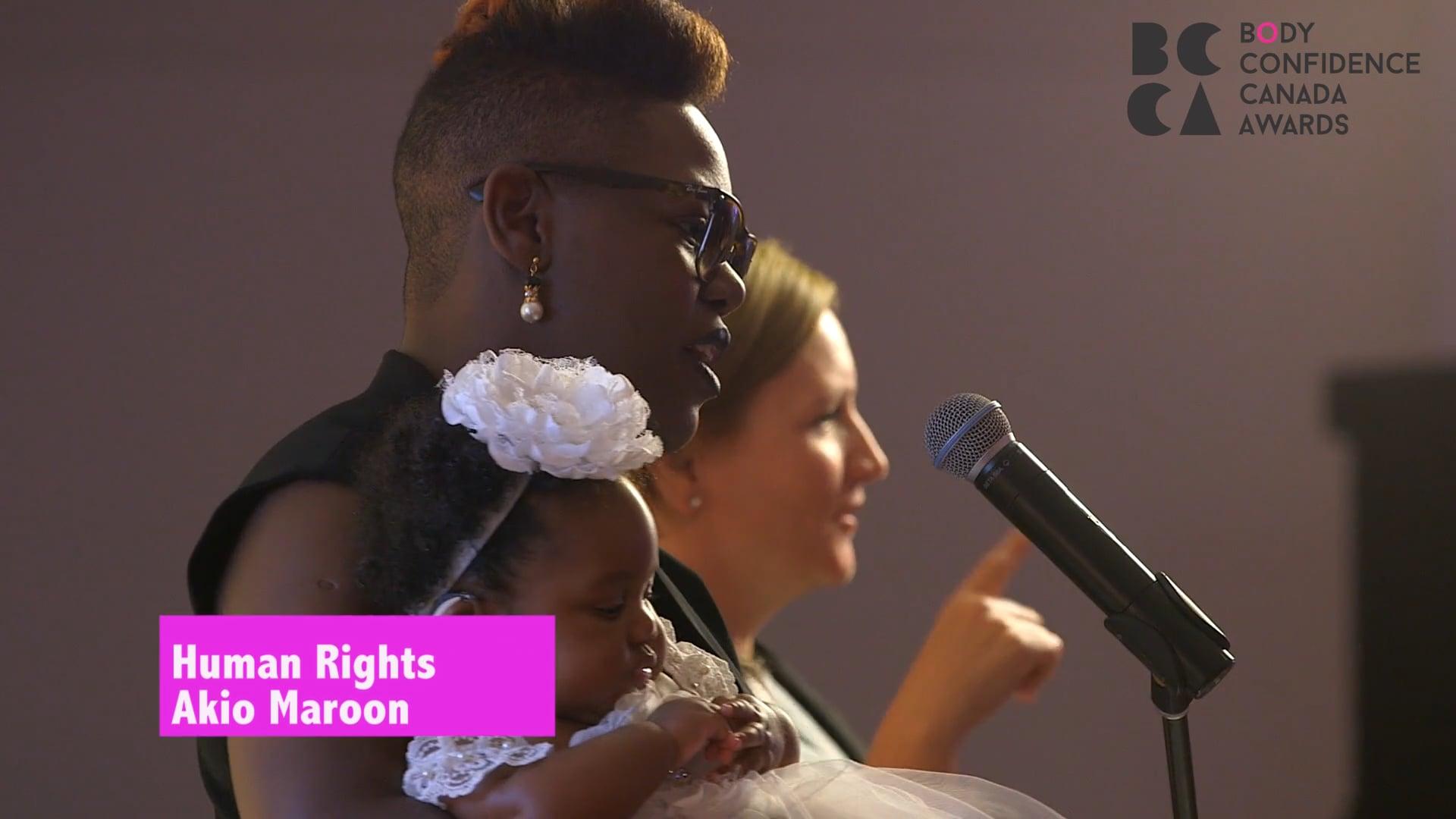 Human Rights Recipient - Akio Maroon