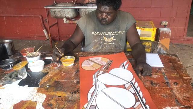 Gabriel Paints at Injalak film
